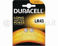 DURACELL PILE SPECIALISTICHE ELETTRONICA ALCALINA PASTICCA LR43 BLISTER 1PZ
