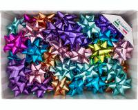 COCCARDE STELLE METALLIZZATE LUCIDE 6870 LISCE 70pz 19mmø 90mm 98 ASSORTITE