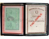 PORTADOCUMENTO PER PATENTE E CARTA DIDENTITA CON 2 CARD