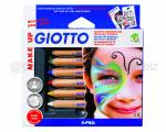 GIOTTO MAKE UP SET MATITE COSMETICHE pz 6 COLORI CLASSICI