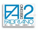 BLOCCO CARTA DA DISEGNO F2 BIANCO 4 ANGOLI 240 x 340mm 110gr 20ff LISCIO