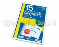 RICAMBI DOPPIO 210 x 594mm BIANCOff 15 RINFORZATO 100gr UN RIGO