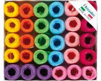 NASTRI DI RAFIA A OVINE 6802 30pz 5mm 20mt ASSORTITI COL.99
