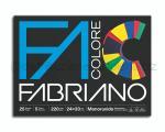 BLOCCO CARTA DA DISEGNO FABRIANO COLORE 5 COLORI ASSORTITI 240 x 330mm 220gr 25ff LISCIO/RUVIDO