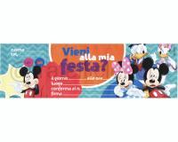 INVITO ALLA FESTA pz. 10 DA 10 INVITI DISNEYsoggetti