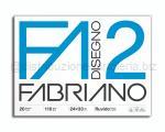 BLOCCO CARTA DA DISEGNO F2 BIANCO 4 ANGOLI 240 x 340mm 110gr 20ff RUVIDO