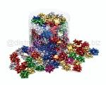 COCCARDE STELLE METALLIZZATE LUCIDE 6870 LISCE 100pz 5mmø 25mm 00 ASSORTITE