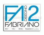 BLOCCO CARTA DA DISEGNO F2 BIANCO 4 ANGOLI 240 x 340mm 110gr 20ff SQUADRATO LISCIO