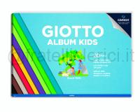 GIOTTO ALBUM KIDS COLORE ASSORTITO 210 X 297mm 120gr 20ff CARTA LISCIA COLORATA