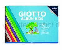 GIOTTO ALBUM KIDS COLORE ASSORTITO 290,7 X 210mm 120gr 20ff CARTA LISCIA COLORATA