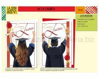BIGLIETTI DI AUGURI CROMO LAUREApz. 12 cm 11,5 X 17 3soggetti