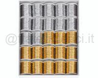 ROCCHETTI METALLIZZATI OPACHI MATT 6811 25pz 10mm 10mt ASSORTITI COL.99
