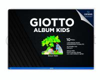 GIOTTO ALBUM KIDS NERO NERA 290,7 X 210mm 220gr 10ff CARTA LISCIA