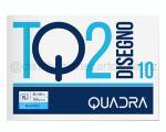 BLOCCO CARTA DA DISEGNO TOP QUALITY LINEA TQ 210 BIANCO 4 ANGOLI 330 x 480mm 120gr 10ff RUVIDO