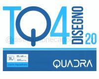 BLOCCO CARTA DA DISEGNO TOP QUALITY LINEA TQ 420 BIANCO 4 ANGOLI 330 x 480mm 200gr 20ff SQUADRATO