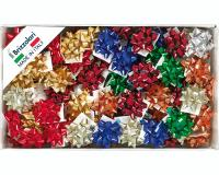 STELLE METALLIZZATE LUCIDE 6870 LISCE 100pz 6,5mmø 35mm 00 ASSORTITE