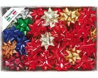 COCCARDE STELLE METALLIZZATE LUCIDE 6870 LISCE 70pz 19mmø 90mm 00 ASSORTITE
