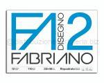 BLOCCO CARTA DA DISEGNO F2 BIANCO 4 ANGOLI 330 x 480mm 110gr 12ff SQUADRATO LISCIO