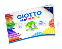 GIOTTO ALBUM KIDS BIANCO 210 X 290,7mm 90gr 30ff GRANA FINE