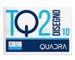 BLOCCO CARTA DA DISEGNO TOP QUALITY LINEA TQ 210 BIANCO 4 ANGOLI 330 x 480mm 120gr 10ff SQUADRATO