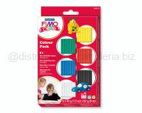 FIMO KIDS SET BASIC 6pz 42gr B/G/R/B/V/N