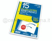 RICAMBI DOPPIO 210 x 594mm BIANCOff 15 RINFORZATO 100gr SENZA RIGATURA