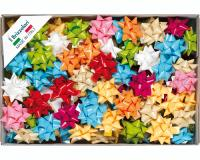 COCCARDE STELLE LUCIDE LACCATE 6807 100pz 14mmø 65mm ASSORTITE COL.99