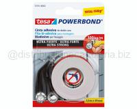 NASTRO BIADESIVO POWERBOND ULTRA STRONG 19mm 1,5mt