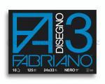 ALBUM DA DISEGNO F3 NERO 240 x 330mm 125gr 10ff RUVIDO