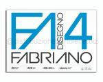 BLOCCO CARTA DA DISEGNO F4 BIANCO 4 ANGOLI 330 x 480mm 220gr 20ff LISCIO