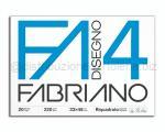 BLOCCO CARTA DA DISEGNO F4 BIANCO 4 ANGOLI 330 x 480mm 220gr 20ff SQUADRATO LISCIO