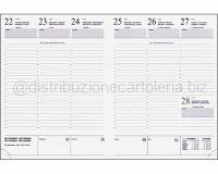 RICAMBIO AGENDA CARTONATO SETTIMANALE TAGLIO BIANCO 197 x 265mm