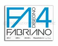 BLOCCO CARTA DA DISEGNO F4 BIANCO 4 ANGOLI 240 x 330mm 220gr 20ff SQUADRATO LISCIO