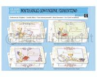 BIGLIETTI DI AUGURI CROMO COMUNIONE PORTASOLDIpz. 12 cm 11,5 X 17 3soggetti