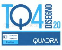 BLOCCO CARTA DA DISEGNO TOP QUALITY LINEA TQ 420 BIANCO 4 ANGOLI 330 x 480mm 200gr 20ff RUVIDO