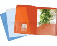 CARTELLINA SMART PRESENTATION A 2 TASCHE mm 210 X 297 ROSSO