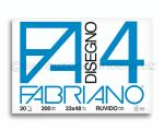 BLOCCO CARTA DA DISEGNO F4 BIANCO 4 ANGOLI 330 x 480mm 200gr 20ff RUVIDO