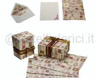 SCRIPTORIUM BOGLIETTI DOPPI pz 10 buste e 10 cartoncinicm. 9 x 14