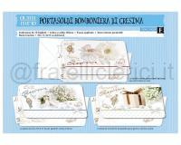 BIGLIETTI DI AUGURI CROMO CRESIMA PORTASOLDIpz. 12 cm 11,5 X 17 3soggetti
