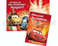 BIGLIETTI DI AUGURI WALT DISNEY CARS cm 11,5 X 17