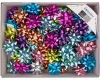 COCCARDE STELLE METALLIZZATE LUCIDE 6870 LISCE 100pz 10mmø 50mm 98 ASSORTITE