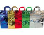 SHOPPER METALLIZZATE CON MANICI PLASTICA cm. 30X40 ASSORTITI