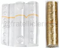 BLISTER PER MONETE 100 PEZZI 40 monete da 20 centesimi
