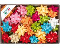 COCCARDE STELLE LUCIDE LACCATE 6807 70pz 19mmø 89mm ASSORTITE COL.99
