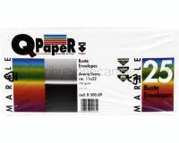CARTA QPAPER MARBLE 110gr BUSTE AVORIO 110 x 220mm 25pz.