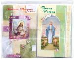 BIGLIETTI DI AUGURI PASQUALI RELIGIOSA MINIpz. 50 cm 8,5 X 13,5 12soggetti