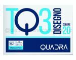 BLOCCO CARTA DA DISEGNO TQ320 COLORE assortiti 240 x 330mm 220gr 20ff monoruvido