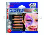 GIOTTO MAKE UP SET MATITE COSMETICHE pz 6 COLORI GLAMOUR
