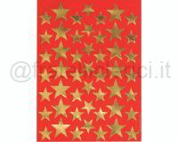 STELLE ADESIVE STIKERS PICCOLE cm. 17 X 24 ORO