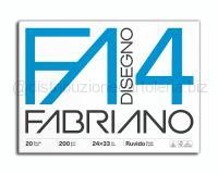 BLOCCO CARTA DA DISEGNO F4 BIANCO 4 ANGOLI 240 x 330mm 200gr 20ff RUVIDO